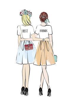 Canvas Print Girlfriends