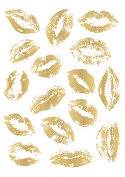 Golden Kisses Canvas Print