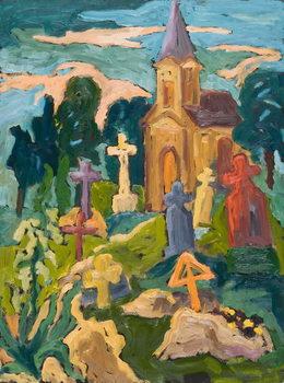 Graveyard and Chapel, 2005 Canvas Print