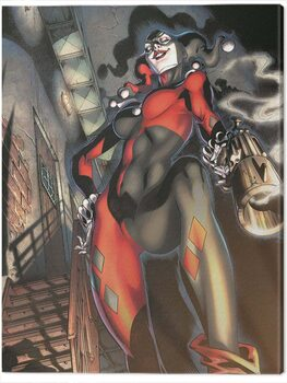 Canvas Print Harley Quinn - Gun Smoke