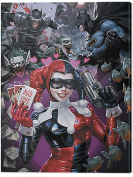 Canvas Print Harley Quinn - The One Who Laughs