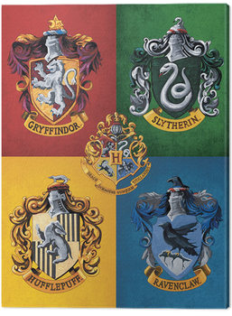 Harry Potter - Colourful Crests Canvas Print
