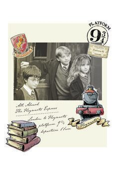Canvas Print Harry Potter - Hermione, Harry and Ron