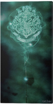 Harry Potter - Hogwarts Crest Patronus Canvas Print
