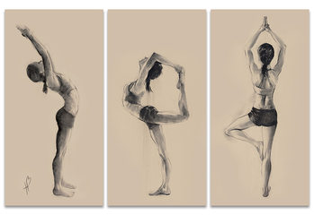Hazel Bowman - Yoga Series Canvas Print