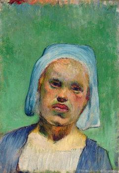 Head of a Breton Canvas Print