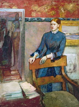 Helene Rouart in her Father's Study, c.1886 Canvas Print