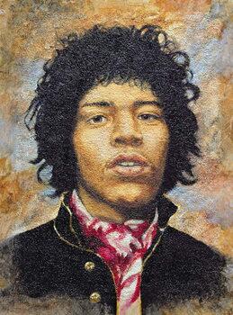 Hendrix (1942-70) Canvas Print