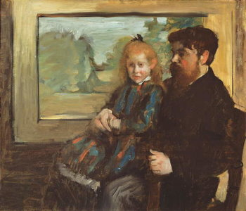 Henri Rouart and his Daughter Helene, 1871-72 Canvas Print