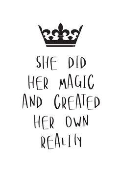 Canvas Print Her Magic