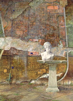 Herculaneum Site Plan, 1994 Canvas Print