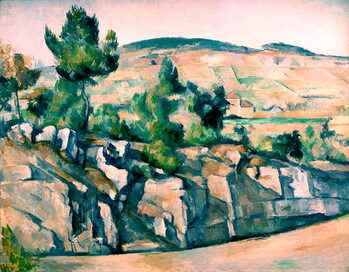 Canvas Print Hillside in Provence by Paul Cézanne