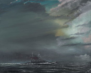 Canvas Print HMS Hood 1941, 2014,