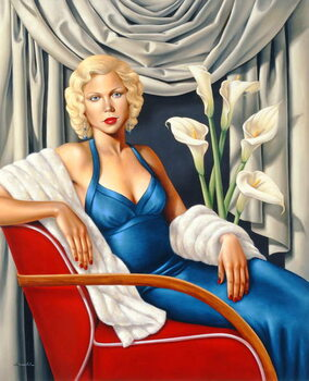 Homage to Harlow Canvas Print