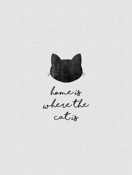 Canvas Print Home Is Where The Cat Is