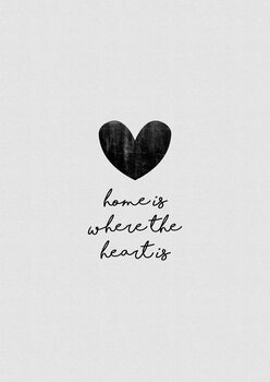 Canvas Print Home Is Where The Heart Is
