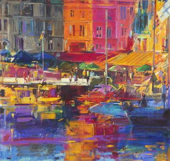 Honfleur Harbour, 2011 Canvas Print