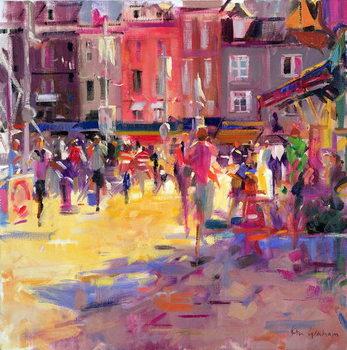 Honfleur Promenade Canvas Print