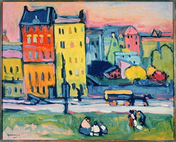 Houses in Munich, 1908 Canvas Print