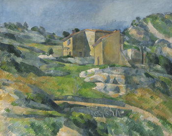 Houses in the Provence: The Riaux Valley near L'Estaque, c.1833 Canvas Print