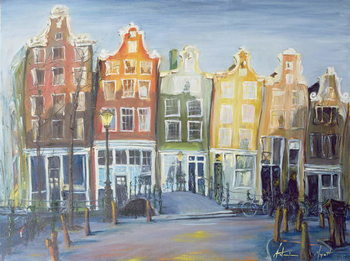 Houses of Amsterdam, 1999 Canvas Print