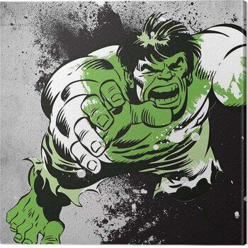Canvas Print Hulk - Splatter