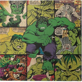 Canvas Print Hulk - Squares