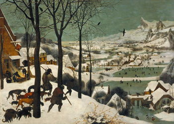 Hunters in the Snow (Winter), 1565 Canvas Print