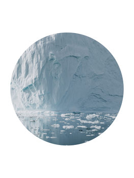 icebergs now circle Canvas Print