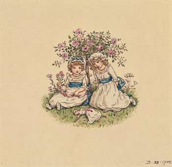 Illustration for 'St. Valentines Day' 1902 Canvas Print