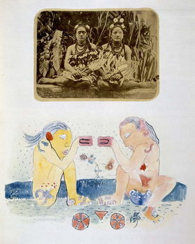Illustrations from 'Noa Noa, Voyage a Tahiti', published 1926 Canvas Print