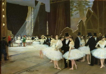 In the Wings at the Opera House, 1889 Canvas Print