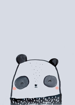 Canvas Print Inky line panda