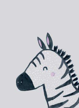 Canvas Print Inky zebra