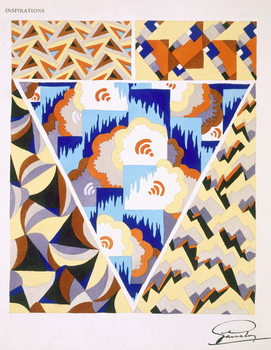 Interior design pattern, plate 2 from 'Inspirations', published Paris, 1930s Canvas Print