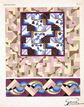 Interior design pattern, plate 5 from 'Inspirations', published Paris, 1930s Canvas Print