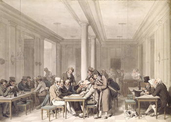 Interior of a Parisian Cafe, c.1815 Canvas Print