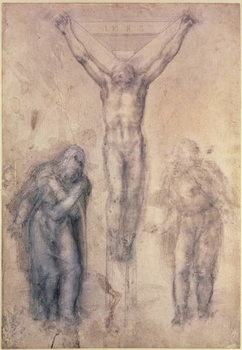 Inv.1895-9-15-509 Recto W.81 Study for a Crucifixion Canvas Print