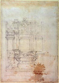 Inv. L859 6-25-823. R. (W.27) Design for a tomb Canvas Print