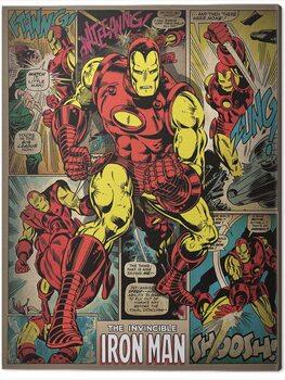 Canvas Print Iron Man - Retro