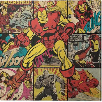 Canvas Print Iron Man - Squares