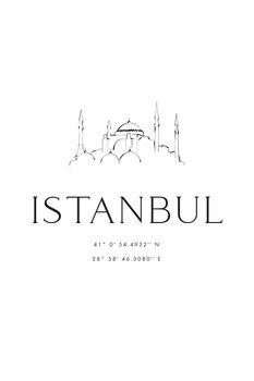 Canvas Print Istambul coordinates