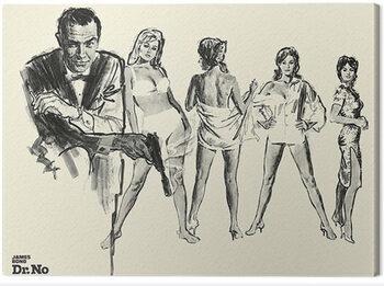 Canvas Print James Bond - Dr. No - Sketch