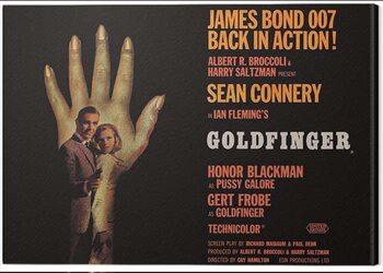 Canvas Print James Bond - Goldfinger - Hand