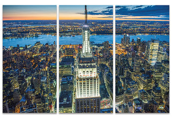 Jason Hawkes - Empire State Building at Night Canvas Print