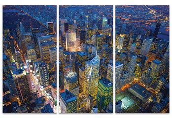 Canvas Print Jason Hawkes - New York Evening
