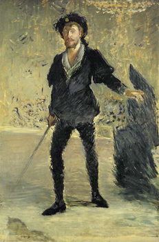 Jean Baptiste Faure (1840-1914) in the Opera 'Hamlet' by Ambroise Thomas (1811-86) (Study), 1877 Canvas Print