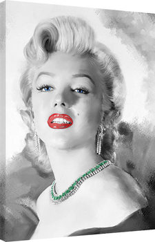 Canvas Print Jerry Michaels - Diamonds Are A Girls Best Friend