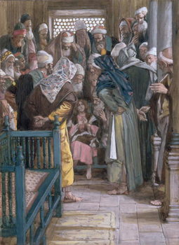 Jesus amidst the doctors, illustration for 'The Life of Christ', c.1886-96 Canvas Print