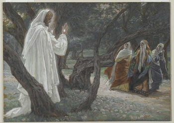 Jesus Appears to the Holy Women, illustration from 'The Life of Our Lord Jesus Christ', 1886-94 Canvas Print